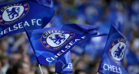 Des supporters de Chelsea lors du Community Shiehd contre Arsenal, le 6 août 2017 à Wembley.