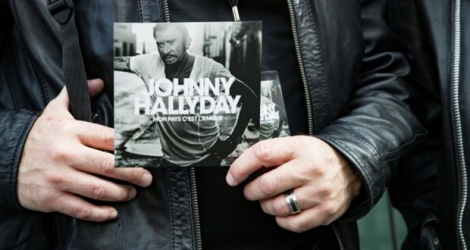 L'album posthume de Johnny Hallyday photographié le 15 octobre 2018 à Paris.
