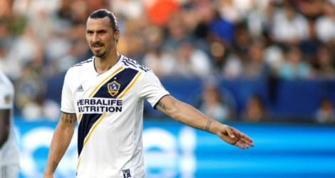Zlatan Ibrahimovic, attaquant du Los Angeles Galaxy à Carson (Californie), le 29 juillet 2018.