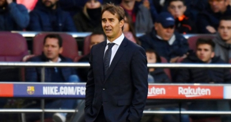 L'entraîneur du Real Madrid Julen Lopetegui lors du déplacement au Real Madrid le 28 octobre 2018.