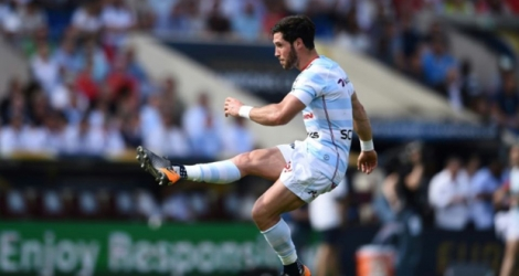 Maxime Machenaud, avec le Racing 92 face au Munster, lors d'un match de Coupe d'Europe disputé à Bordeaux, le 22 avril 2018.