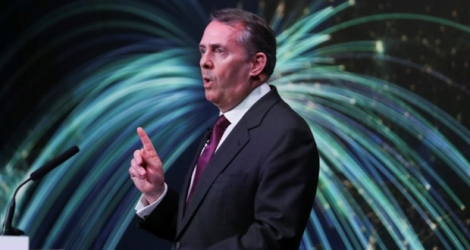 Le ministre britannique du Commerce international Liam Fox, le 27 février 2018 à Londres.