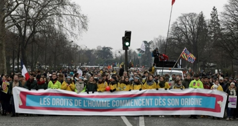 Manifestation d'opposants au droit à l'avortement à Paris, le 20 janvier 2019