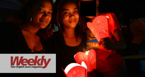 The International AIDS Candlelight event at Port-Louis in 2016. HIV still kills one million people a year. © Beekash Roopun