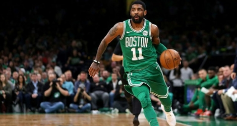 Kyrie Irving, des Boston Celtics, lors d'un match contre Atlanta à Boston le 16 mars 2019.
