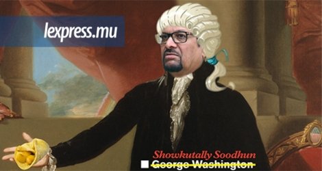 Voici une image de George Washington, pardon, de Showkutally Soodhun.