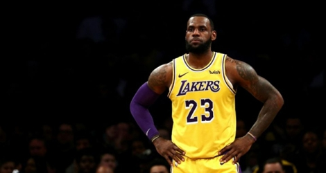 Le joueur des Los Angeles Lakers LeBron James lors du match face aux Brooklyn Nets le 18 décembre 2018.