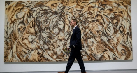 «The Eye is the First Circle», tableau de Lee Krasner, qui devrait battre un record pour l'artiste lors de la vente de jeudi à New York chez Sotheby's.