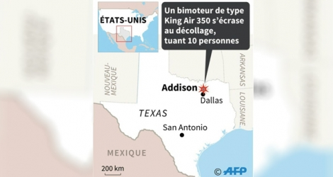 Accident d'avion au Texas.