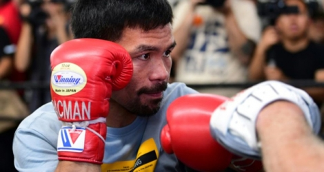 Le Philippin Manny Pacquiao à Hollywood le 10 juillet 2019.