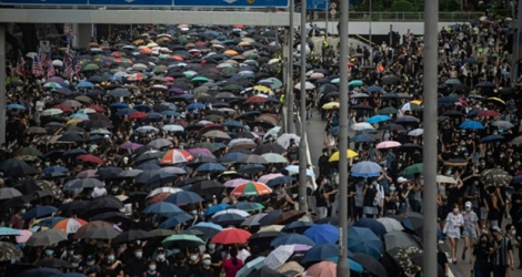 Les manifestants à Hong Kong le 31 août 2019. Photo Philip FONG. AFP