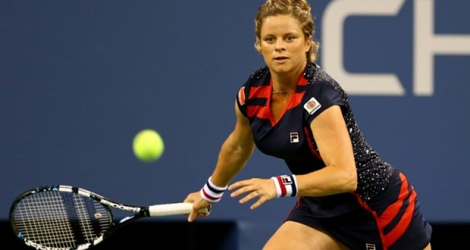 La Belge Kim Clijsters lors de l'US Open, le 27 août 2012 Photo AL BELLO. AFP