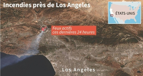 Incendies près de Los Angeles.