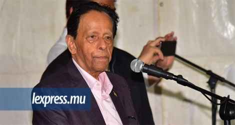 Sir Anerood Jugnauth à Terre-Rouge ce lundi 21 octobre.