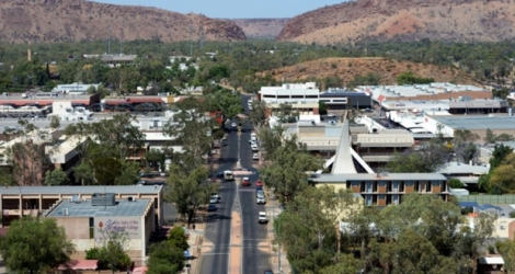 Vue de la ville d'Alice Springs en octobre 2013 en Australie Photo GREG WOOD. AFP