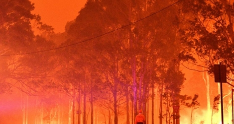Smoke from bushfires has blanketed large parts of Australia.