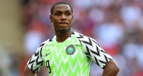 Odion Ighalo, recruté par Manchester United au mercato d'hiver en provenance de Chine.