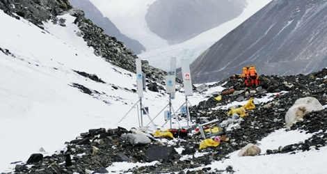 Picture of 5G Base station at 6500m.