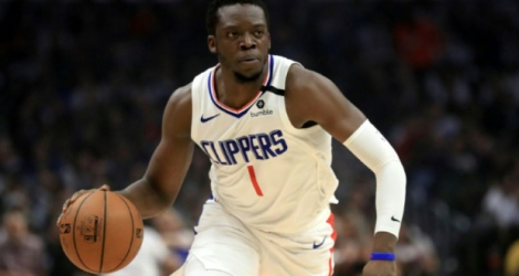 L'arrière des Clippers Reggie Jackson, ici en match de saison régulière NBA face à Memphis, le 24 février 2020 à Los Angeles, a participé au match de reprise Photo Sean M. Haffey. AFP