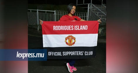 Ingrid Allet, secrétaire du Rodrigues Island Manchester United Supporters' Club.