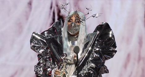 Lady Gaga lors des MTV Video Music Awards à New York, le 30 août 2020.