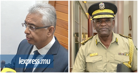 Pravind Jugnauth et Mario Nobin, commissaire des prisons, lors de la réunion du «High Level Drug and HIV Council», hier, mardi 15 septembre.