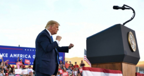 Le président américain Donald Trump en meeting à Carson City, dans le Nevada, le 18 octobre 2020 Photo MANDEL NGAN. AFP