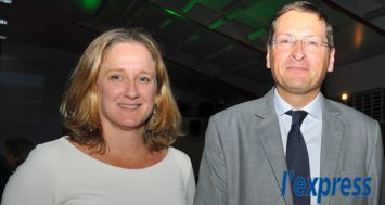 Virginie Corneillet, Head of Corporate Services pour ENL et Laurent Garnier, ambassadeur de France.