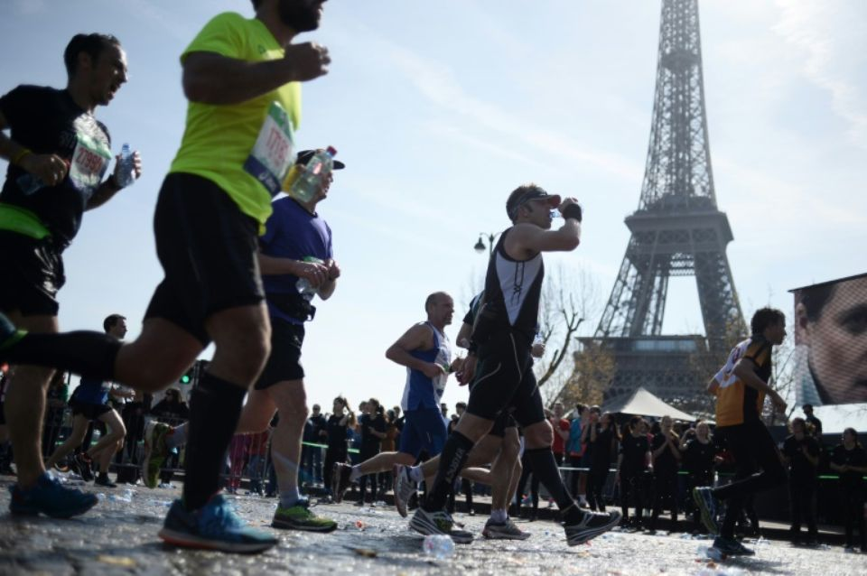 La 39 édition du marathon de Paris, le 12 avril 2015