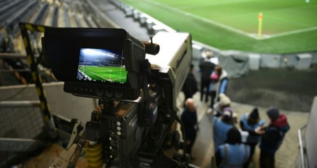 Une camera lors d'un match de Premier League entre Hull City et Aston Villa, le 10 février 2015