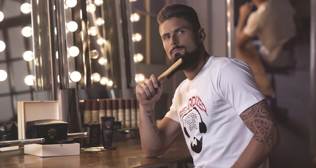 Olivier Giroud sera le visage de la marque Beardilizer en 2018. © Courtesy of Beardilizer
