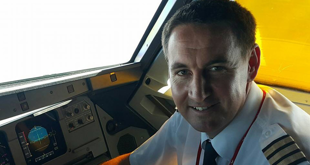 Michael Kemp, first officer from Air Mauritius
