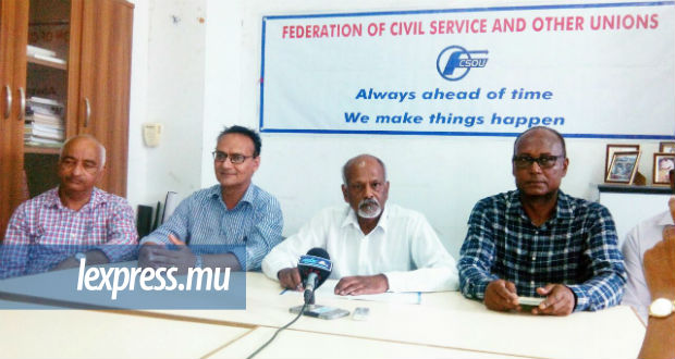 Narendranath Gopee, président de la Federation of Civil Service and other Unions