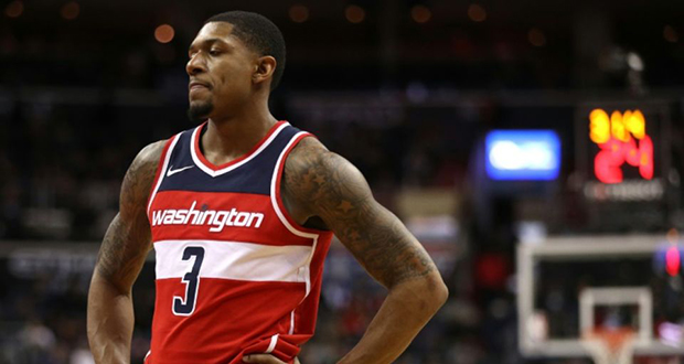 Bradley Beal des Washington Wizards face aux Milwaukee Bucks le 15 janvier 2018