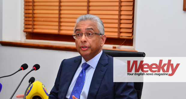 The prime minister, Pravind Jugnauth, held a press conference today.