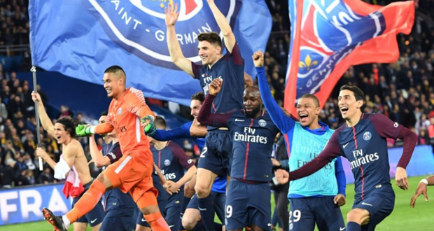 Le psg s offre son 7e titre de champion de france en for Africa express presents maison des jeunes