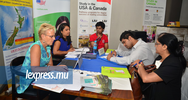 Un job fair organisé par l'Overseas Education Centre, en 2016.