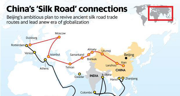 The ambitious Chinese One Belt One Road initiative overall plans to link Europe to China through Central Asia, much to the dismay of India. (Source: AFP)
