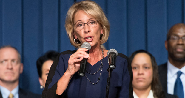 Betsy DeVos was born into a wealthy Michigan family in the 1950s.